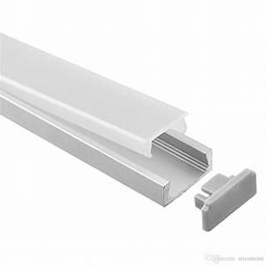 Led Strip Profil : led aluminium profile 1m piece led aluminum extrusion profile for led strips with milky diffuse ~ Buech-reservation.com Haus und Dekorationen