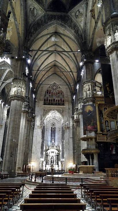 Milan Cathedral Italy Before Decorations Would Jesus