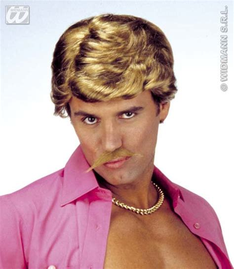 wham wig light brown casanova wig with moustache george michael