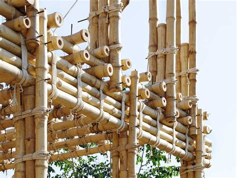 Locally manufactured cob and bamboo school building