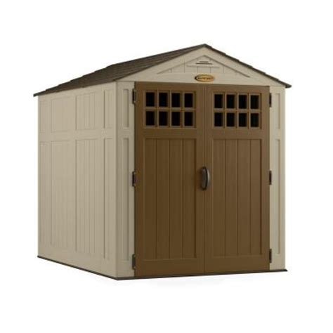 6x8 Rubbermaid Storage Shed by Shed Selection Floor Roof Vinyl Heating House