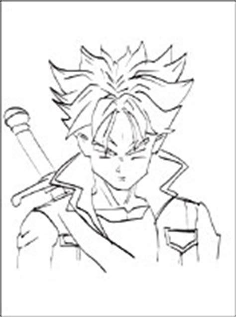 dragon ball future trunks da stampare disegni da colorare gratis