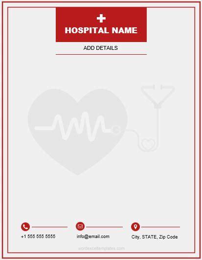 ms word letterhead templates  hospitalsclinics