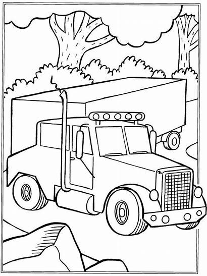 Coloring Truck Pages Printable Cement Log Tonka