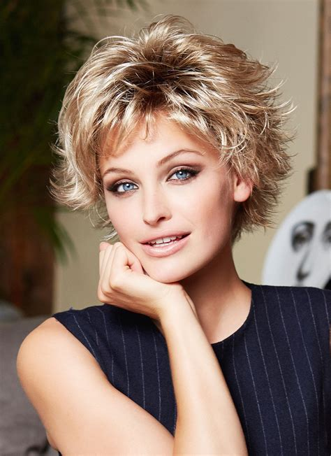 short feather cut ladies straight hair wigs