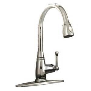 aquasource kitchen faucet shop aquasource chrome 1 handle pull kitchen faucet at lowes