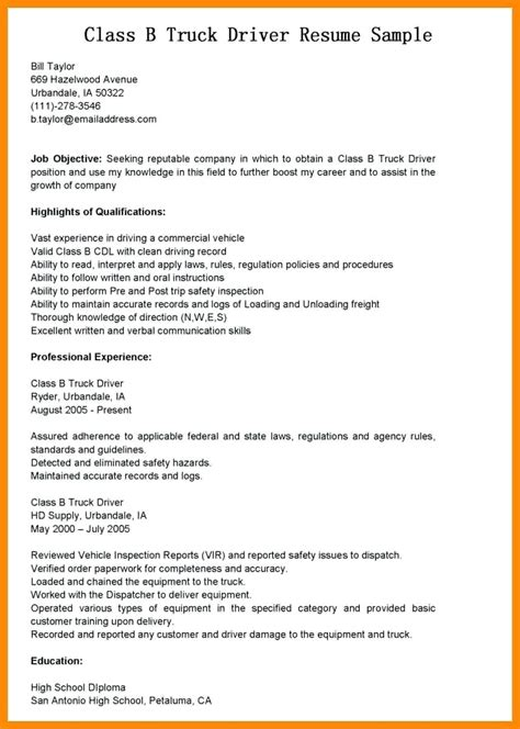 truck driver resume template ideasplataforma