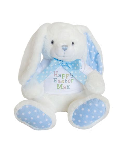 Personalised Easter Bunny Soft Toy with Polka Dot Details WithCongratulations