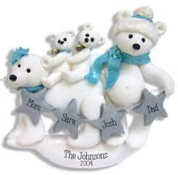 polar family family 4 handmade polymer clay personalized ornament ebay