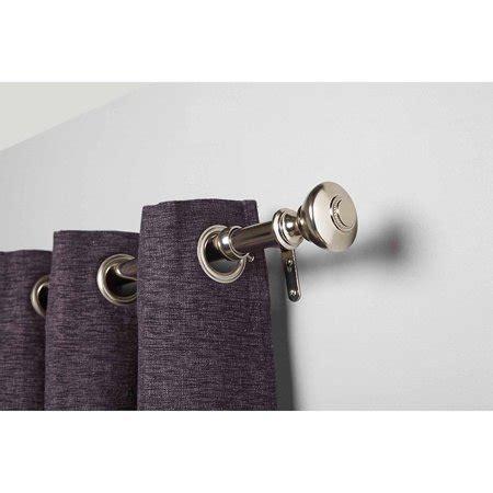 homes gardens silver knob curtain rod set nickel