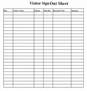 sign out sheet template 9 free samples examples format With employee sign in sign out sheet template