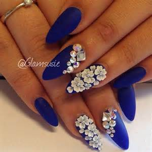 Ideas about royal blue nails on