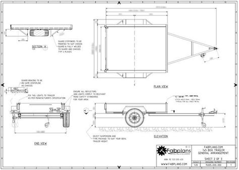 box auto dwg build your own box trailer with these professionally