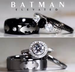 batman inspired unique sterling silver tungsten black ringscollection - Batman Wedding Ring With