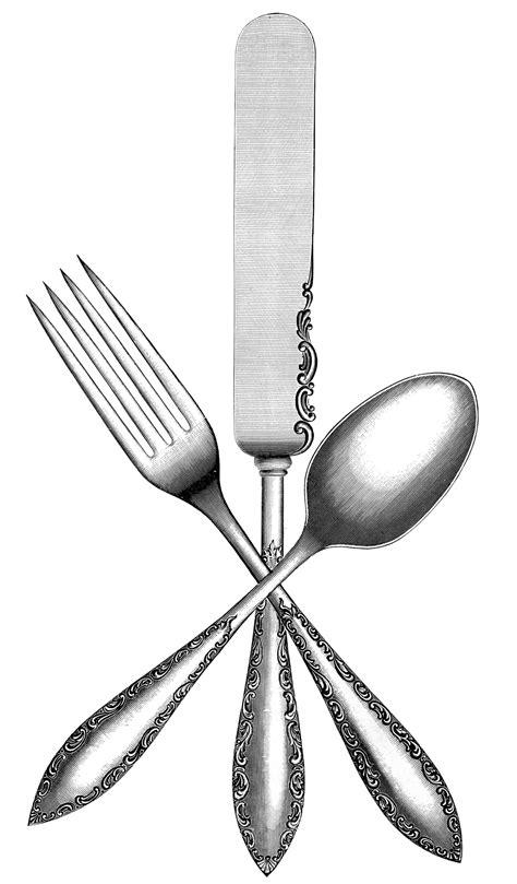 vintage silverware image  graphics fairy