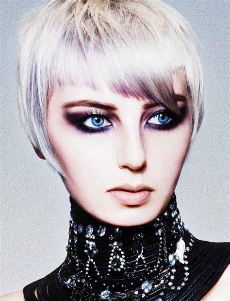 dramatic short hairstyles dramatic short hair and makeup 1 hair more than 8 500