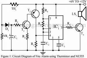 Fire Alarm Using Thermistor And Ne555