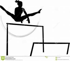 Gymnastics Uneven Bars Clipart - ClipartXtras