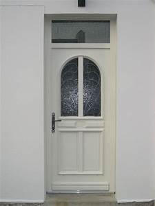 porte d39entree en pvc avec vitrail realisation de la With porte d entrée pvc avec menuiserie pvc sur mesure