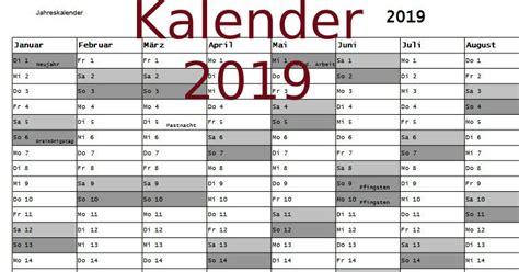 Kalender 2019 Aschermittwoch