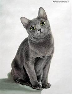 Peinture de chat - portrait de chat - Portrait peinture ...