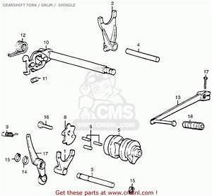 Honda Mr50 Elsinore 1974 K0 Usa Gearshift Fork    Drum