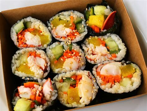kimbap recipe lobster seaweed rice rolls lobster gimbap recipe maangchi com