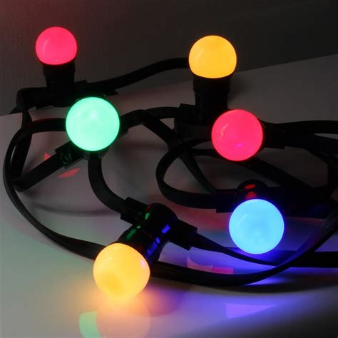 guirlande lumineuse exterieur 50 metres guirlande b22 led 10 m 232 tres multicolore cr059783 luminaire