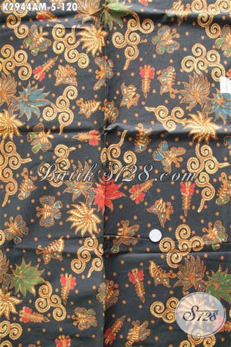 batik kain jawa tengah dasar hitam motif mewah proses
