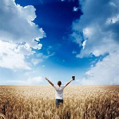 Bible Devotional Write Holding Field Writing Wheat
