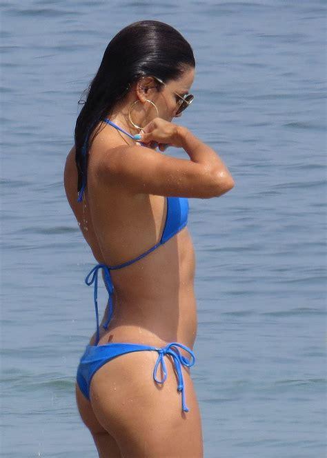 eva longoria   blue bikini  marbella mirror