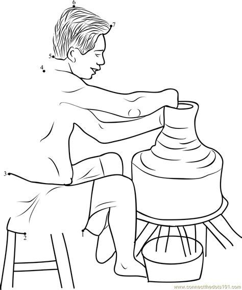 pottery potter hand giving shape  clay pot  wheel sri