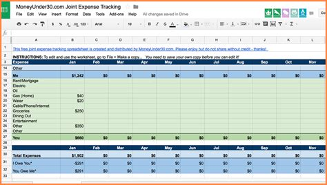 medical expense tracking spreadsheet