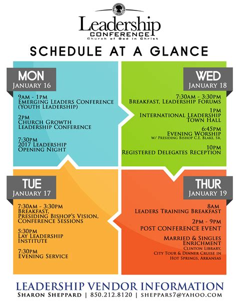 schedule leadership conference