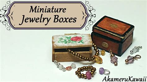 Miniature Jewelry Boxes