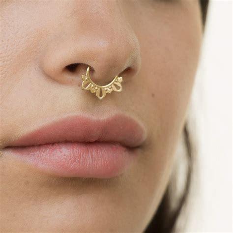 buy  gold filled wrappedbeaded septum ringnose ring