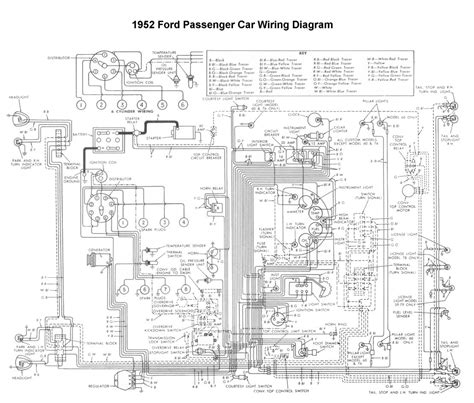 Wiring Diagram 1951 F1 Ford Truck by Wiring For 1952 Ford Car Wiring