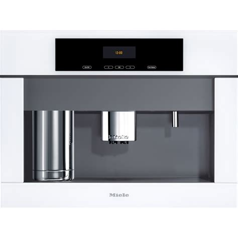 """Miele's own coffee brand comes with a fairtrade seal, organic certificate and an unmistakeable aroma. Miele CVA4062BWRS Plus 24"""" Built-in Grind and Brew Whole Bean Coffee System, Brilliant White"""