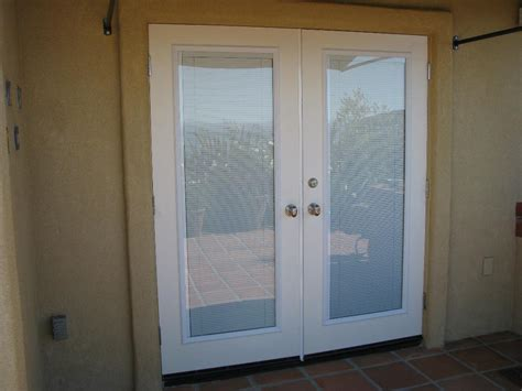 beautiful exterior doors with built in blinds pictures