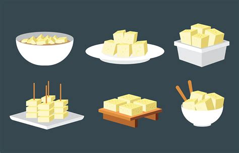 tofu vector icons   vector art stock
