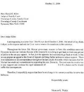 sample letter to judge before sentencing