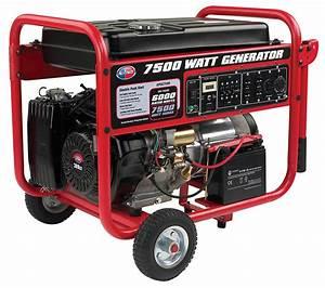 All Power America 7500w Portable Generator W   Electric