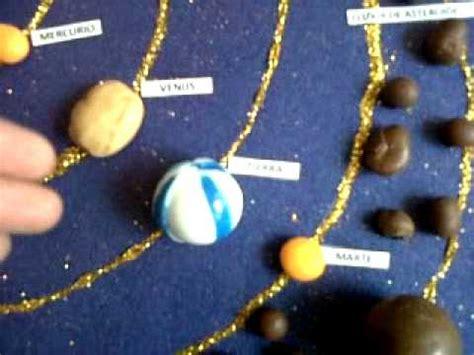 maqueta del sistema solar en dulce youtube