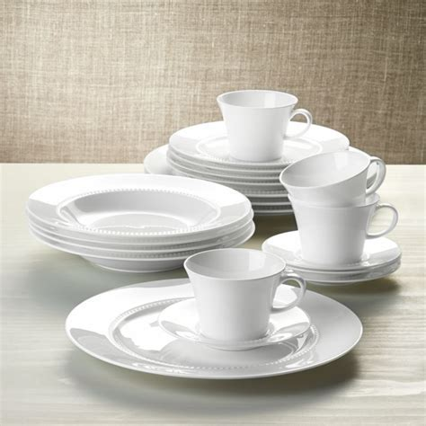 White Pearl 20 Piece Dinnerware Set   Reviews   Crate and