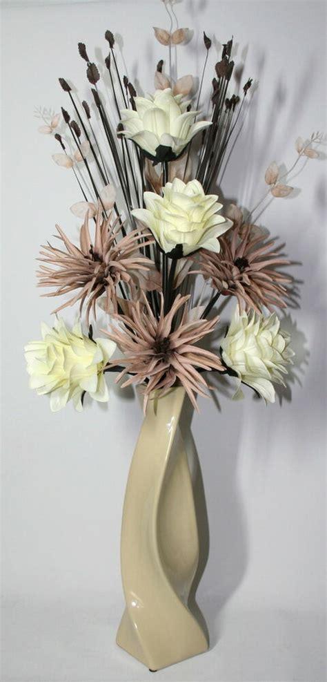 Dried Flower Arrangements In Vases by Artificial Silk Flower Arrangement Mink In