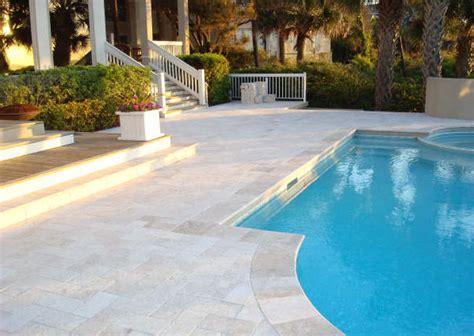 classic pool tile atlanta georgia travertine coping