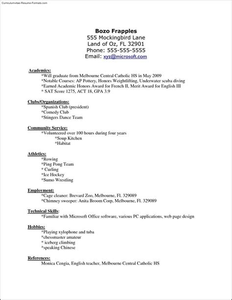 libreoffice resume template free sles exles