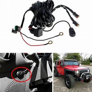 Off Road Light Bar Wiring Harness Kit 12v 40a Relay 2lead