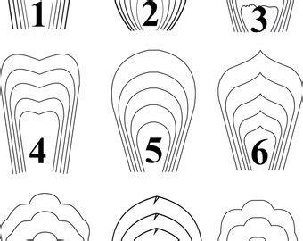 paper flower template pdf paper flower etsy