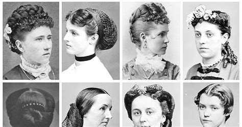 Vintage Portraits Depict Women's Hairstyles From The Victorian And Edwardian Eras Homecoming Hairstyles For Curly Thick Hair Beautiful Using Braids Volume Long Grey Net Growth Vitamins Gnc Wedding Side Emo Inspired Back To School Updo